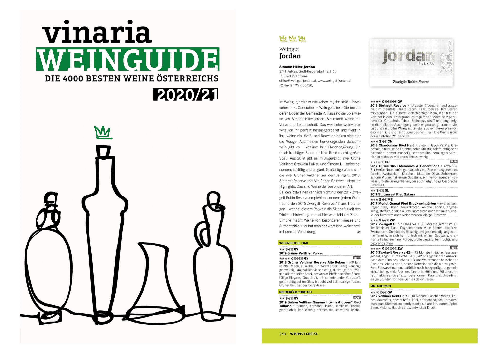 Vinaria葡萄酒指南2020/21